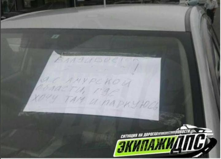 Жители Владивостока отомстили приезжему «мастеру парковки»