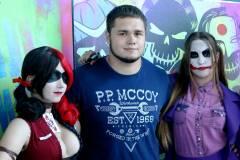 Владивостокцы предстали в образах Джокера и Харли Квинн на премьере «Отряда самоубийц»