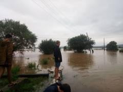 В Хасанском районе два фермера сутки просидели на крыше дома, спасаясь от наводнения