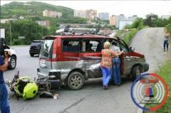ДТП с участием мотоциклиста произошло во Владивостоке