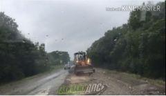 Печально известную трассу Шкотово – Партизанск в Приморье асфальтировали в дождь