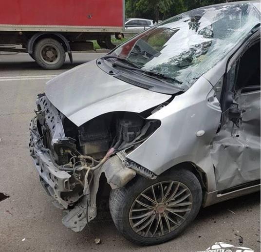 В массовом ДТП во Владивостоке «покалечены» четыре автомобиля