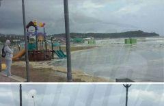 Самый популярный пляж Приморья полностью ушел под воду