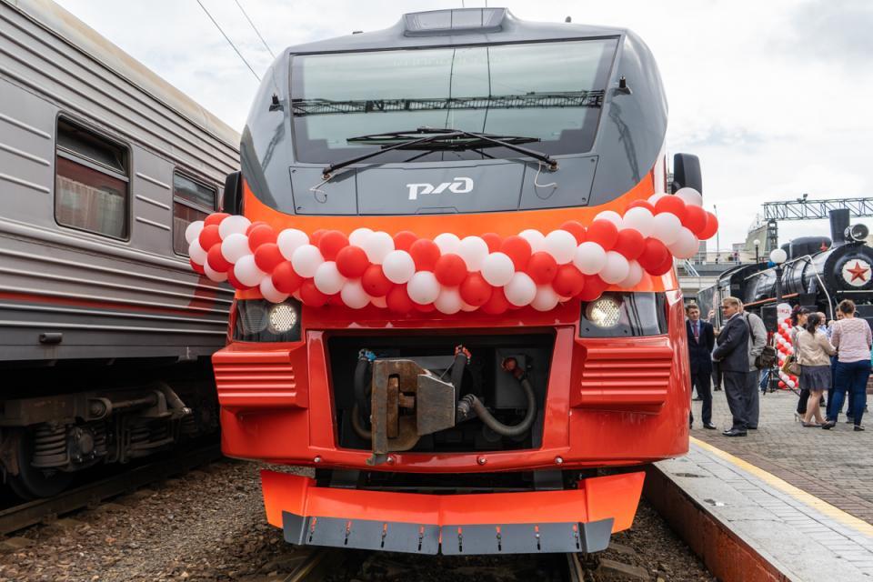 Новый электропоезд вышел на маршрут в Приморье