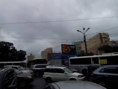 Океанский проспект Владивостока перекрыли из-за визита Путина