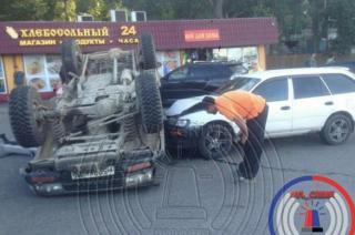 Опубликовано видео ДТП  с «универсалом» и Land Cruiser на Калинина: девушка сделала «страйк»