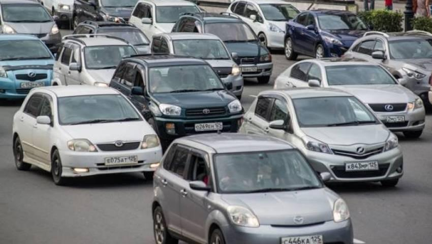 Огромная пробка собирается на федеральной трассе в Приморье
