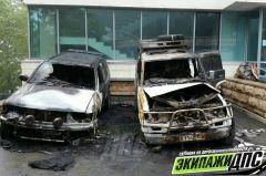 В Советском районе Владивостока сгорели два автомобиля