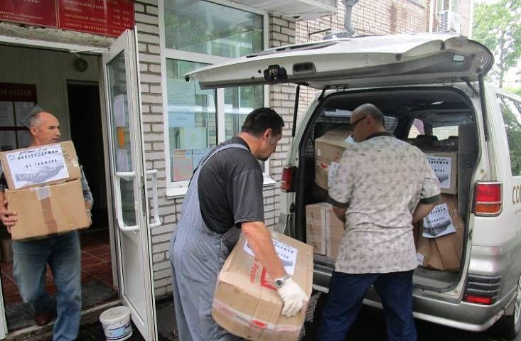 Владельцы грузовых авто привезли гуманитарную помощь в подтопленные районы Приморья