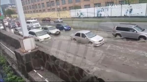 Сегодня утром Владивосток ушел под воду