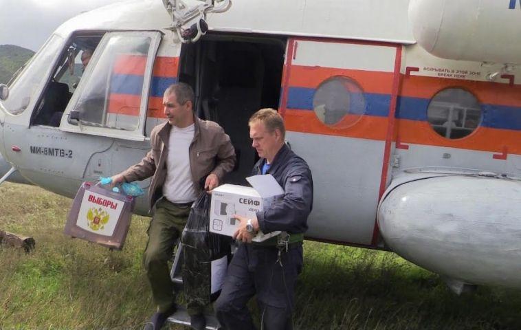 МЧС доставило бюллетени на избирательные участки Приморья