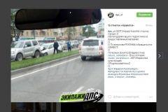 На проспекте Столетия столкнулись три автомобиля из-за пьяного водителя