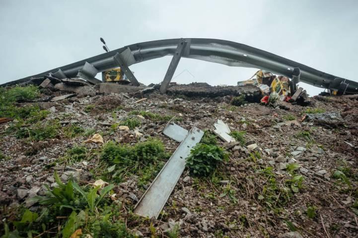 Препятствие из арбузов на седанкинской развязке во Владивостоке убрали