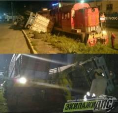 Две аварии с участием грузовиков случились во Владивостоке за последние сутки
