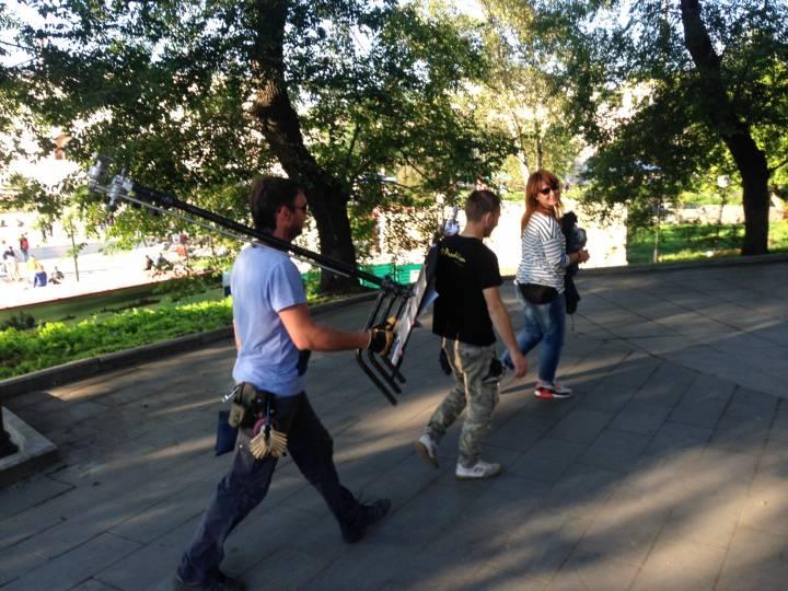 В Центре Владивостока начались съемки фильма с Козловским