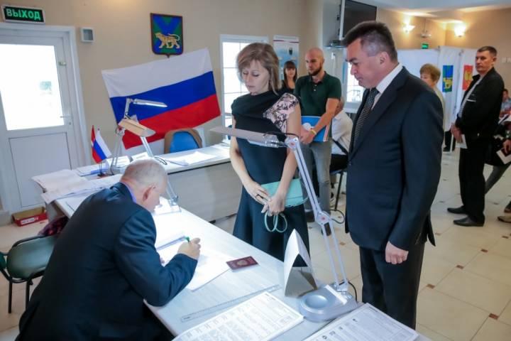 Губернатор Приморья принял участие в выборах депутатов Госдумы и Заксобрания