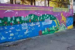 Во Владивостоке ко Дню тигра раскрасили подпорную стену