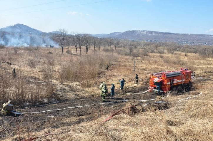 Почти 20 лесных пожаров сейчас бушуют в Приморье