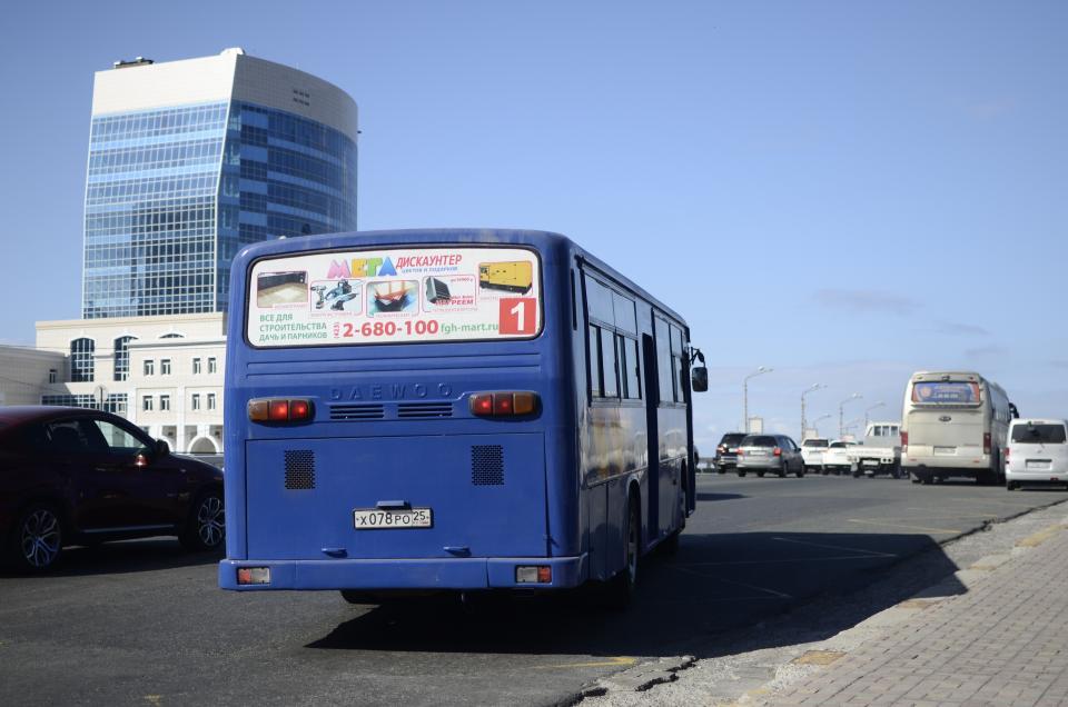 Во Владивостоке изменился маршрут автобуса № 1