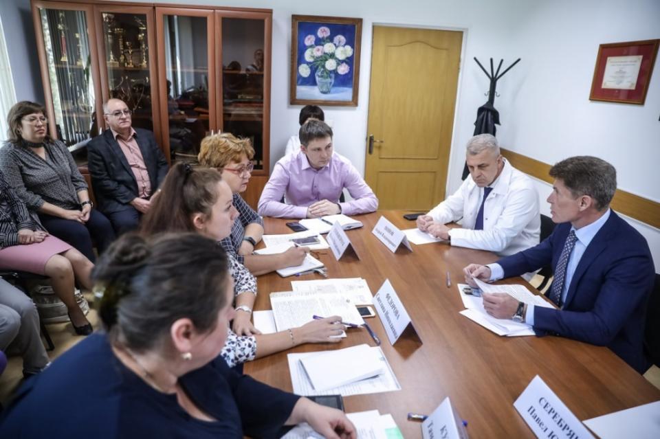 Олег Кожемяко встретился с руководителями медицинских учреждений края