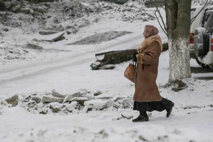 В северных районах Приморья намело сугробы снега
