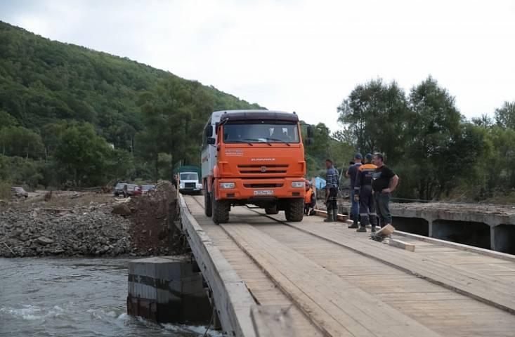 После тайфуна «Лайонрок» в Приморье требуют ремонта 549 километров дорог и 115 мостов