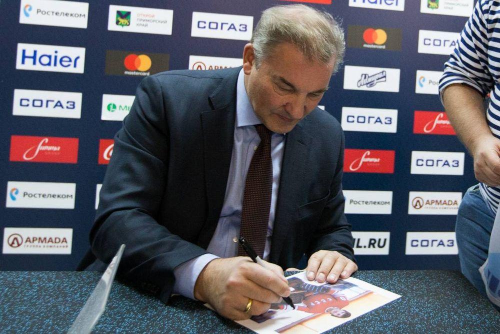 Легендарный Владислав Третьяк поддержал внука в матче «Адмирала»