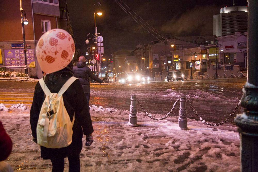 Во Владивостоке началась зима