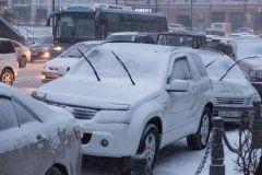 Ряд дорог Владивостока перекрыли после снегопада