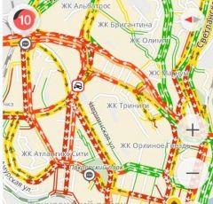 Пробка в десять баллов сковала дороги Владивостока