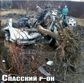 В Приморье в результате ДТП автомобиль буквально разорвало на части