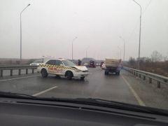 Массовое ДТП произошло на аэропортовской трассе