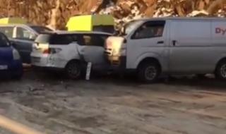 Массовая авария произошла во Владивостоке