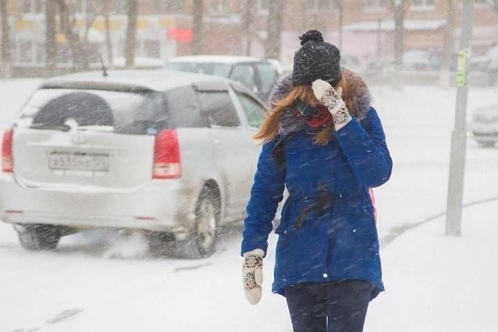 В столице края ожидается небольшой снегопад