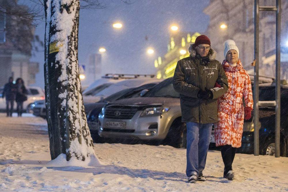 Очередной снегопад выпал во Владивостоке