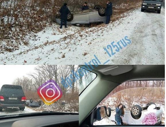 Скользкая дорога стала причиной многочисленных ДТП в Приморье