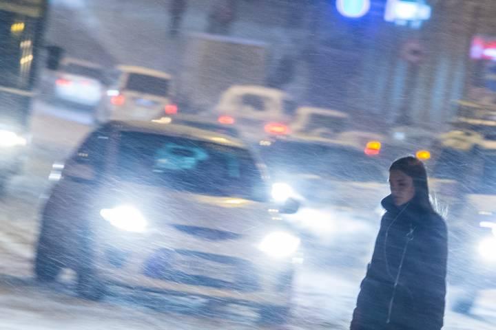 Жители Владивостока построили снеговика-гиганта