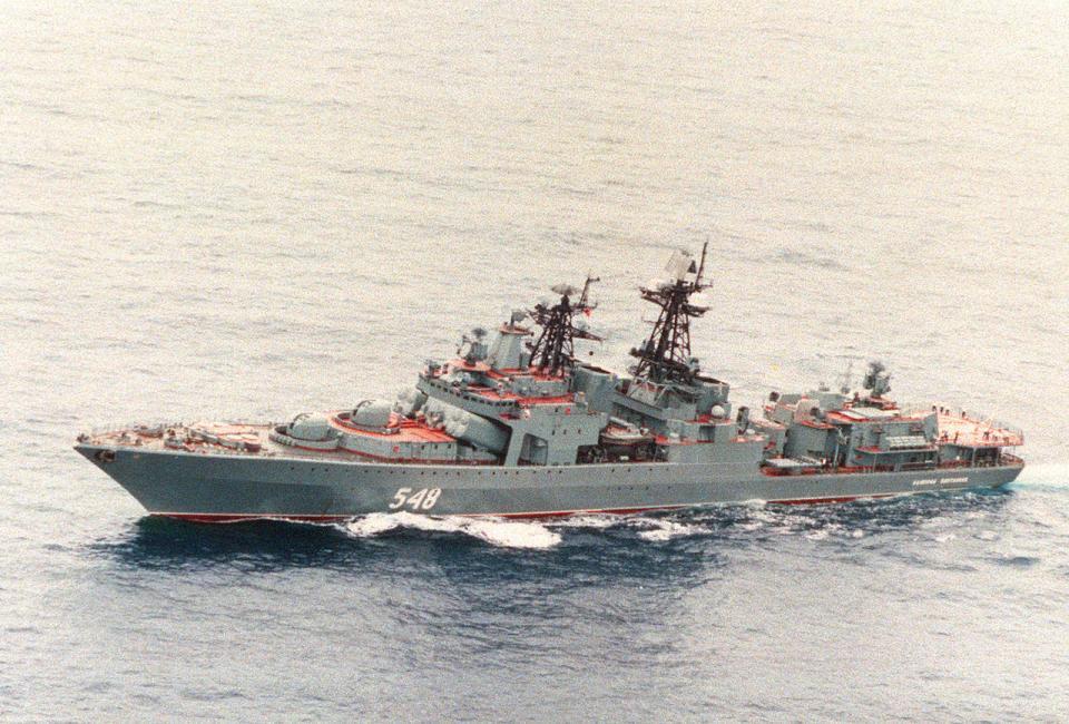 Тренировка группы по антитеррору произошла на борту БПК «Адмирал Пантелеев»