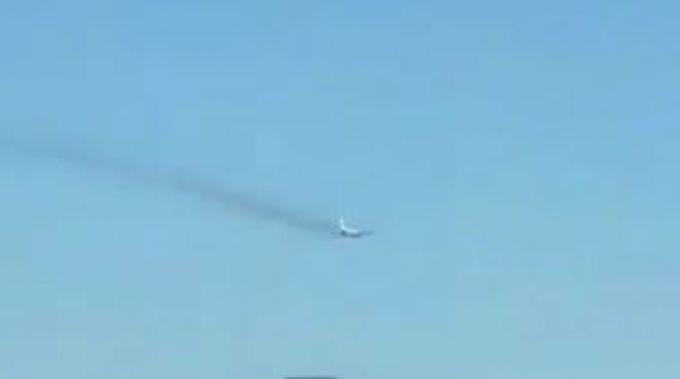 Падающий самолет напугал приморцев
