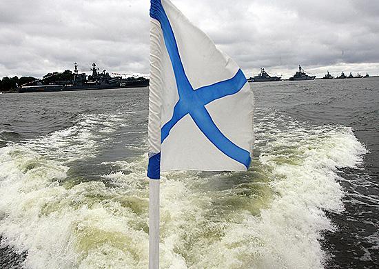 Андреевский флаг подняли на новом судне ТОФ во Владивостоке