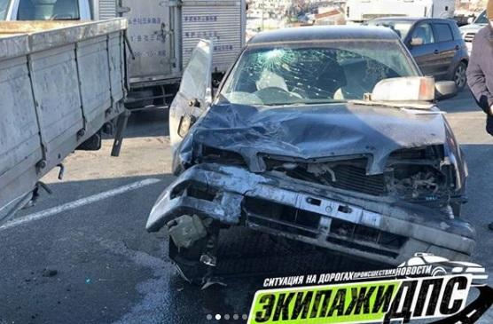 Массовое ДТП произошло во Владивостоке