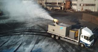 Еще одна мобильная установка пылеподавления приступила к работе на «Терминале Астафьева»