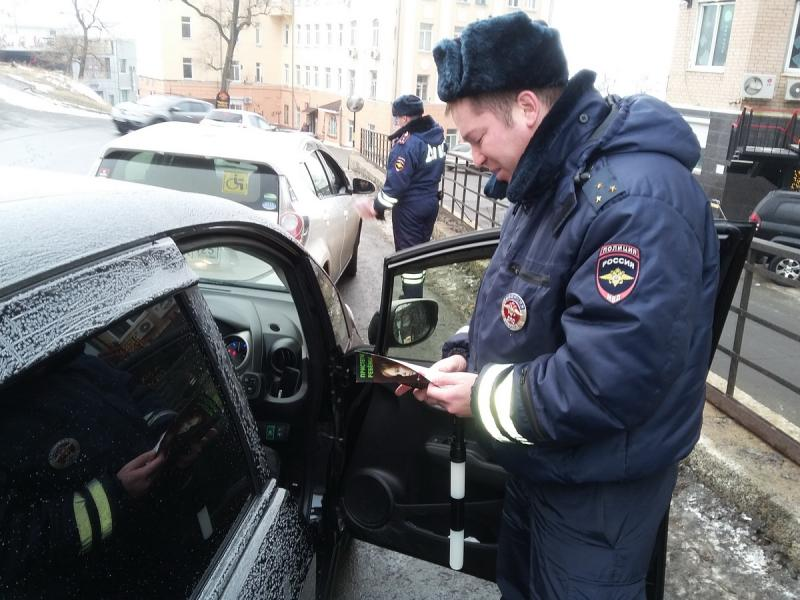 Массовые проверки водителей прошли во Владивостоке