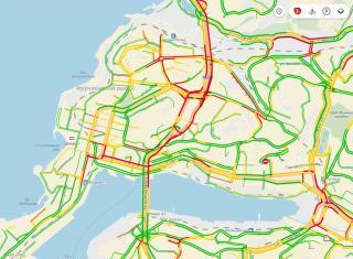 Владивосток снова встает в предновогодние пробки