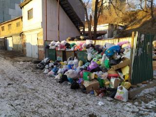 Фото: предоставлено жителем улицы Адмирала Юмашева   Правительство края извинилось за несвоевременный вывоз мусора