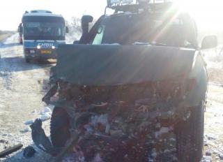 ВодительToyotaLand Cruiser устроил ДТП на железнодорожном переезде в Приморье