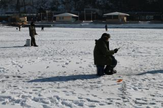 Фото: PRIMPRESS | «Однажды провалился в воду с отцом»: владивостокские рыбаки рассказали о приключениях на льду