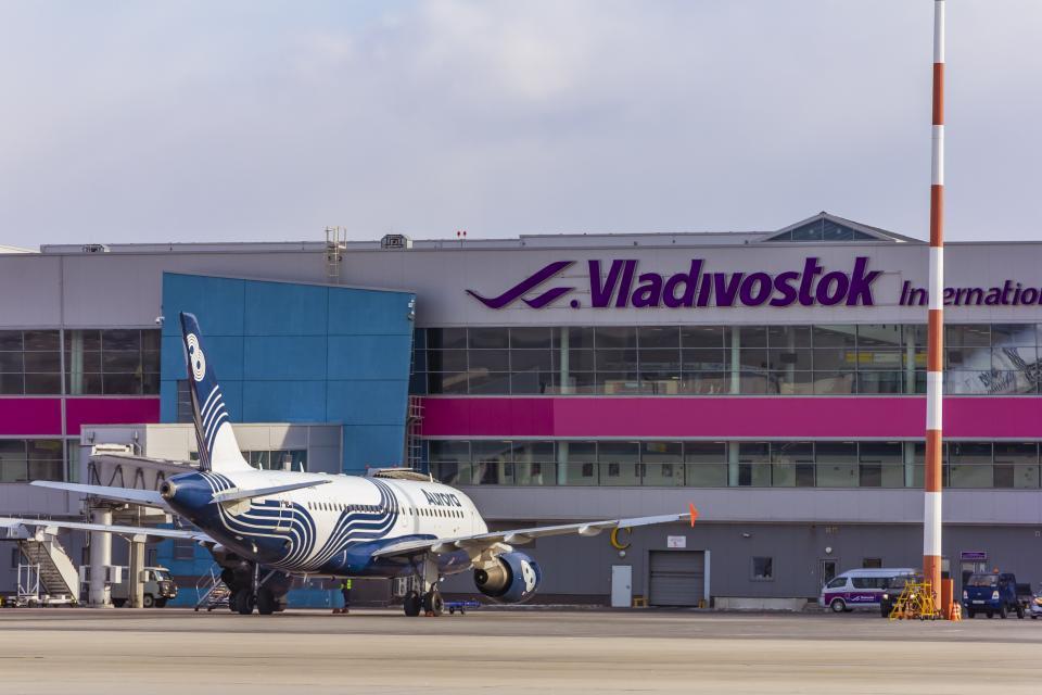 В аэропорту Владивостока состоялся зимний авиаспоттинг