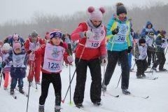 Несмотря на плохую погоду, приморцы вышли на «Лыжню России»