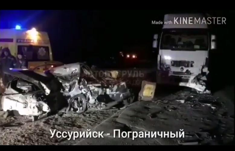 Смертельная автоавария произошла в Приморье